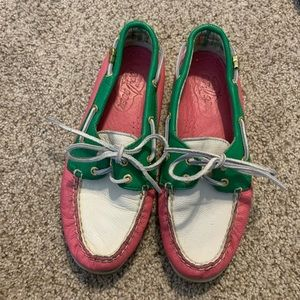 🔥 MOVING SALE | Pink & Green Sperry's